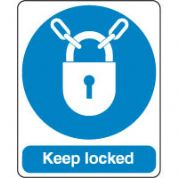 Mandatory Safety Sign - Keep Locked 091
